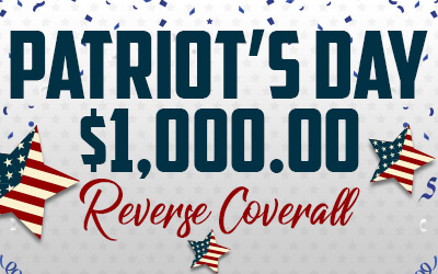 Patriots Day $1,000 Reverse Coverall